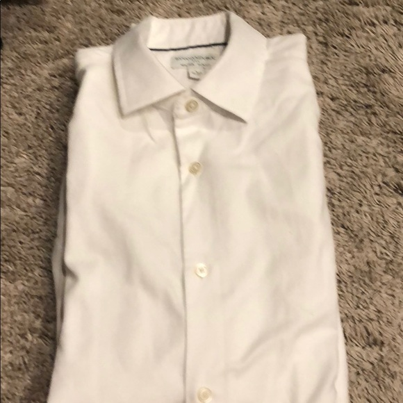 Banana Republic Other - Banana Republic slim fit white shirt L 16 16.5